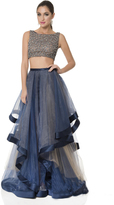 Terani Couture Dashing Crystal Accented Bateau Neck A-line Gown 1611P1369A