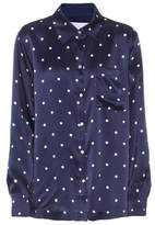 Asceno Polka-dot silk pyjama shirt