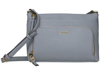 Calvin Klein Key Item Saffiano Leather Top Zip Crossbody