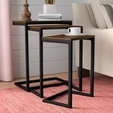 Laurèl Vikki 3 Piece Nesting Tables Foundry Modern Farmhouse Color: Chestnut / Textured Black