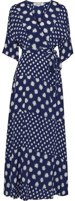 Diane von Furstenberg Eloise Floral-print Silk Crepe Maxi Wrap Dress