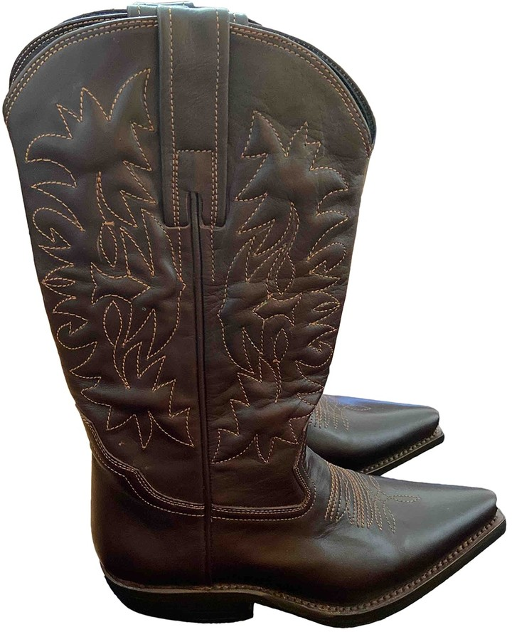 ZEYNEP ARCAY Brown Leather Boots