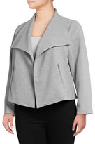 Calvin Klein Plus Textured Flyaway Jacket