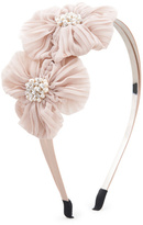 Cara Accessories Pearly Flower Headband