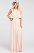 MUMU Princess Ariel Ballgown Maxi Skirt ~ Dusty Blush Crisp