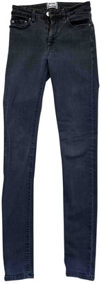 Acne Studios Skin 5 Grey Cotton Jeans for Women