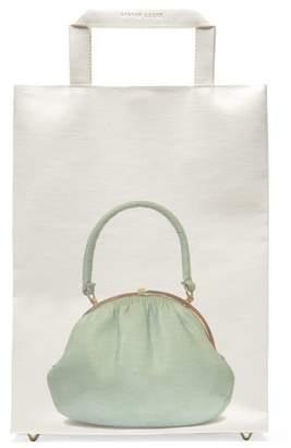 Stefan Cooke - Handbag-print Recycled-paper Tote Bag - Womens - White Multi