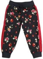 Dolce & Gabbana Floral Ladybug Printed Cotton Sweatpants