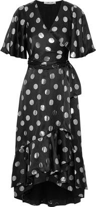 Diane von Furstenberg Sareth Fil Coupe Silk-blend Satin Midi Wrap Dress