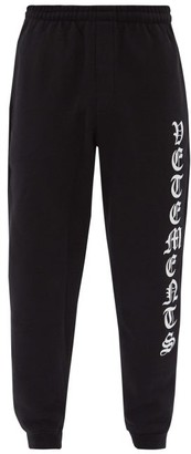 Vetements Logo-print Cotton-blend Jersey Track Pants - Black