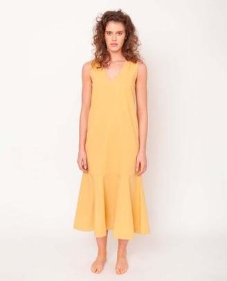 Beaumont Organic SS 20 Remi Organic Cotton Dress In Honey - Honey / Extra Small