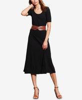Lauren Ralph Lauren Waffle-Knit Midi Dress