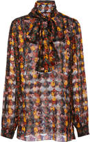 Anna Sui Fruits And Florals Ditsy Daze Blouse