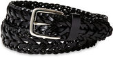 Izod Black Leather Braided Belt - Boys 8-20