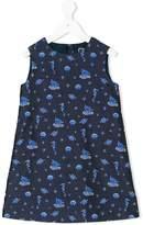 Versace sea life embroidered dress