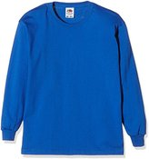Fruit of the Loom Boy's Kids Valueweight Long Sleeve T Medium (Manufacturer Size:30)