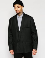 Asos Oversized Blazer with Dropped Shawl in Black