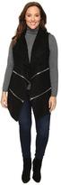 Christin Michaels Plus Size Lilian Sweater Vest with Double Zippers