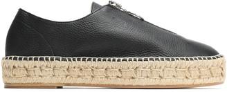 Alexander Wang Devon Pebbled-leather Espadrilles