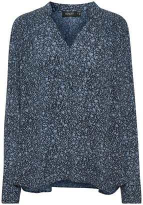 Soaked in Luxury - Zaya Blue Viscose Blouse - S | blue grey - Blue grey
