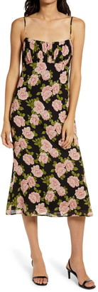 Reformation Arie Sleeveless Floral Print Dress