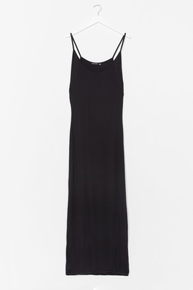 Nasty Gal Womens Throw On and Go Strappy Maxi Dress - Black - 8, Black