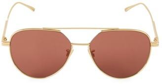 Bottega Veneta 57MM Aviator Sunglasses