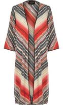 River Island Womens Red Aztec print longline kimono