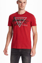 GUESS Men's Hawaii Logo Crew Tee