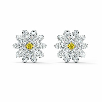 Swarovski Eternal Flower Pierced Earrings with Sparkling Crystals