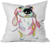 "Deny Designs Casey Rogers Sausage Dog 16"" Sq. Decorative Pillow"
