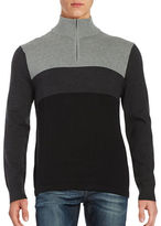 Nautica Colorblocked Quarter Zip Sweater