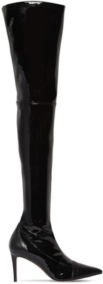 Alexandre Vauthier 100mm Helena Stretch Vinyl Boots