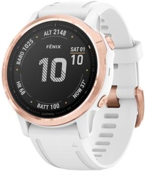 Garmin fenix 6S White Silicone Strap Smart Watch 42mm