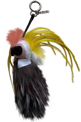 Fendi Karlito Yellow Mink Bag charms