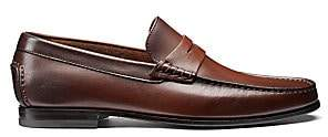 Santoni Men's Leather Moccasin Penny Loafers