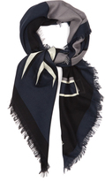 Fendi Faces silk and wool-blend scarf