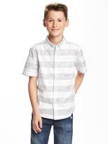 Old Navy Dobby Pocket Shirt for Boys