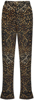 F.R.S For Restless Sleepers Leopard Print Silk Crepe Pants
