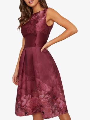 Chi Chi London Sady Floral Dress, Burgundy