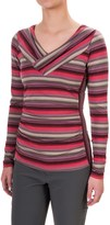 Royal Robbins Essential TENCEL® Striped V-Neck Shirt - UPF 50+, Long Sleeve (For Women)