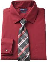 Croft & Barrow Men's Slim-Fit Stretch-Collar Dress Shirt and Patterned Tie Boxed Set