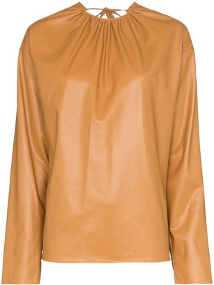 we11done open-back long-sleeve blouse