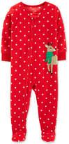 Carter's Baby Girls Fleece Reindeer Pajamas