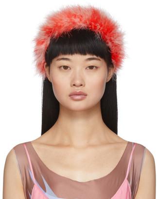 Ashley Williams Red Feathers Poppy Headband