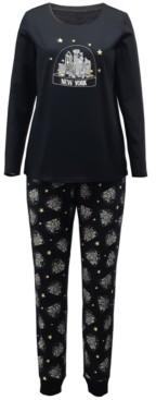 Family Pajamas Matching Women's Nyc Snow Globe Family Pajama Set, Created for Macy's