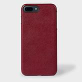 Paul Smith Burgundy Saffiano Leather iPhone 7 Plus Case