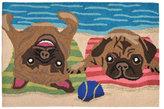 Liora Manné Frontporch Pug Life Indoor/Outdoor Hand-Tufted Rug