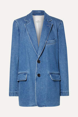 Tibi Oversized Stretch-denim Blazer - Mid denim
