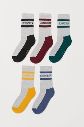 H&M 5-pack Hogwarts socks